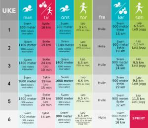 triathlon-treningsprogram